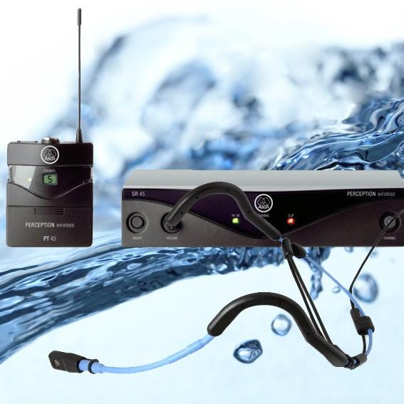 BMS Aqua Cycling-Mikrofonanlage PW45/VT720 wasserfest, robust