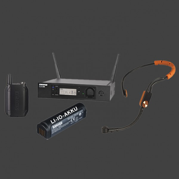 GLXD14E/SM31FH dig. Funkmikrofonanlage mit Fitnessheadset