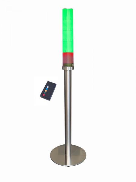 Elektronische, programmierbare Fitnessampel 2.0 mit 60 LED's auf Edelstahlsäule