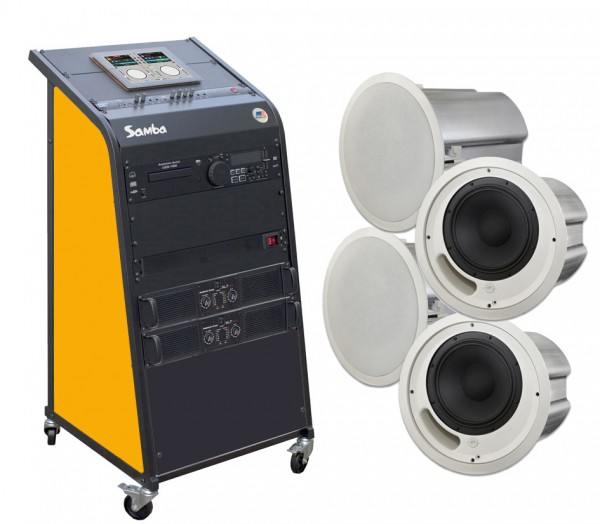 bis 150qm Samba invisible 8.2 Deckeneinbau-Soundsystem