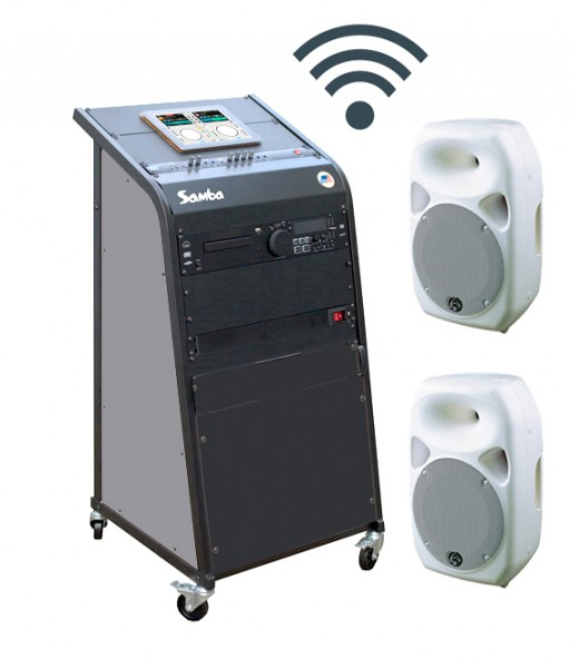 bis 100qm Kursraum-Musikanlage Titan 100 -kabellos-