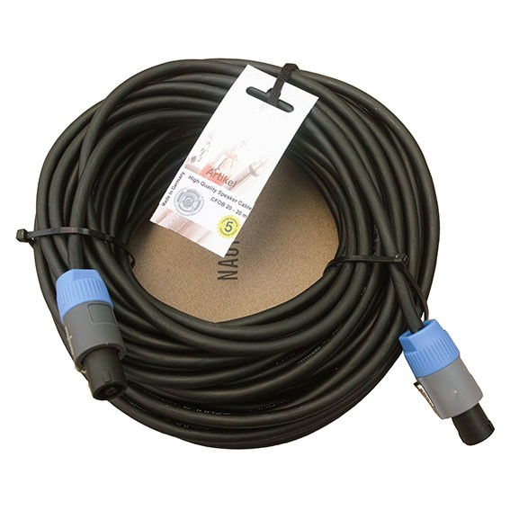 20 lfm. konfektioniertes, flexibles Lautsprecherkabel 2x2,5q