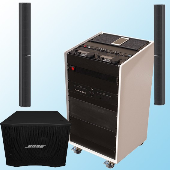 bis 200qm Kursraum-Soundanlage Bose MAB12 CD/Bluetooth