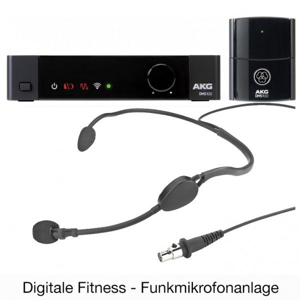 DMS100 Fitness - digitales Fitness Funkmikrofonset