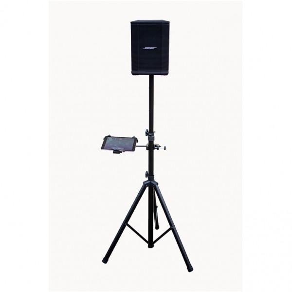 Lautsprecherstativ mit Tablethalterung