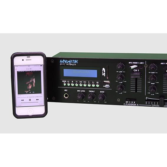 Workmate Vorverstärker mit integriertem Mediaplayer, Bluetooth